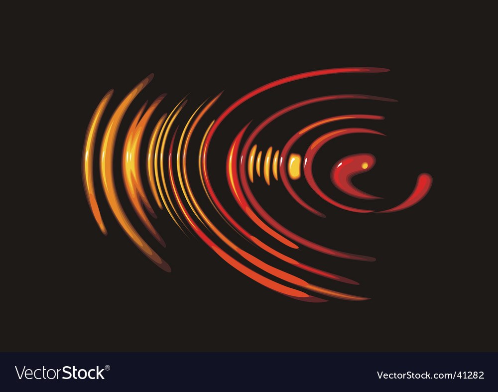 Circles on the water Vector Image
