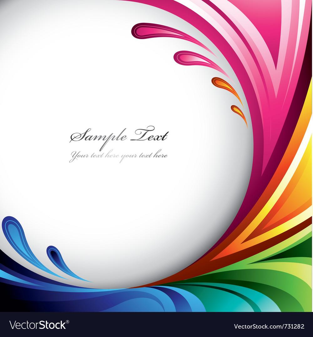 Colorful splash background vector image
