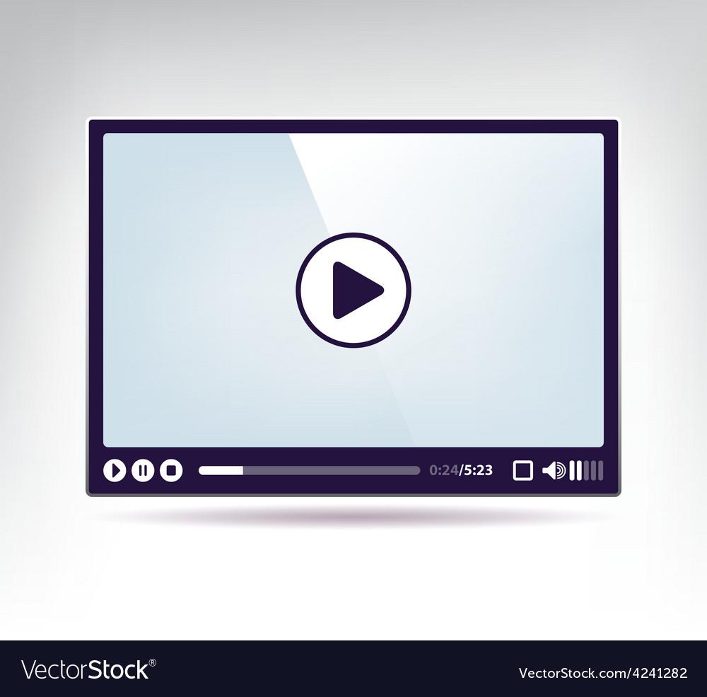 Modern skin for video vector image