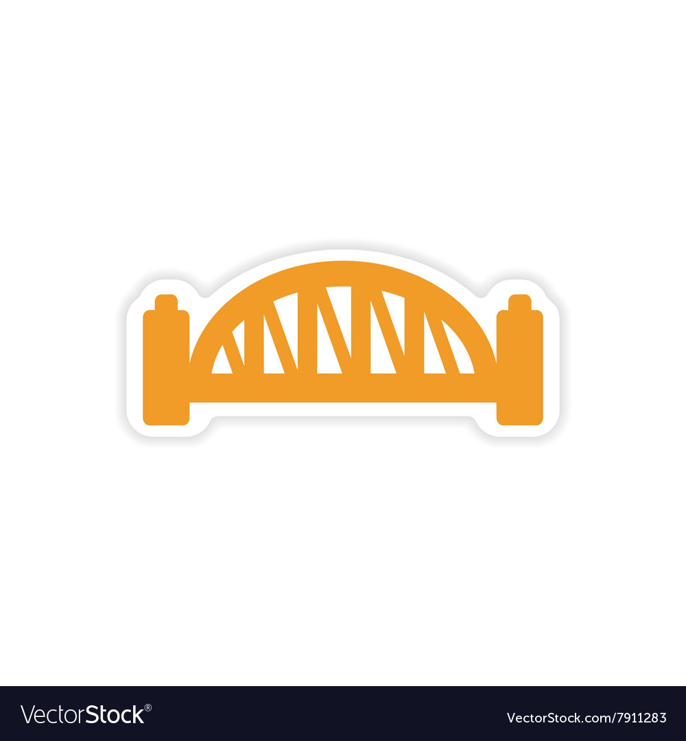 Paper sticker Australian bridge on white