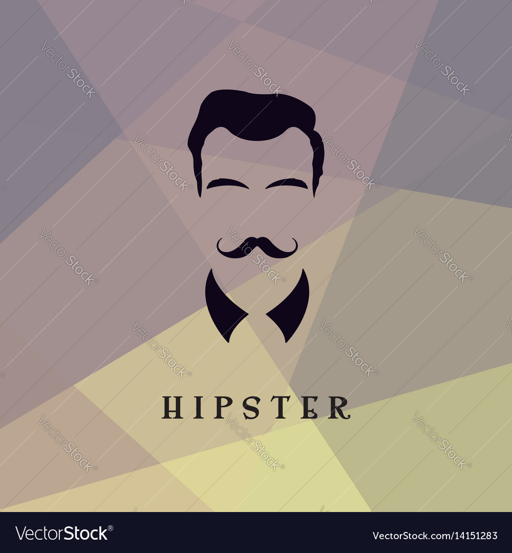 Hipster facewith vector image
