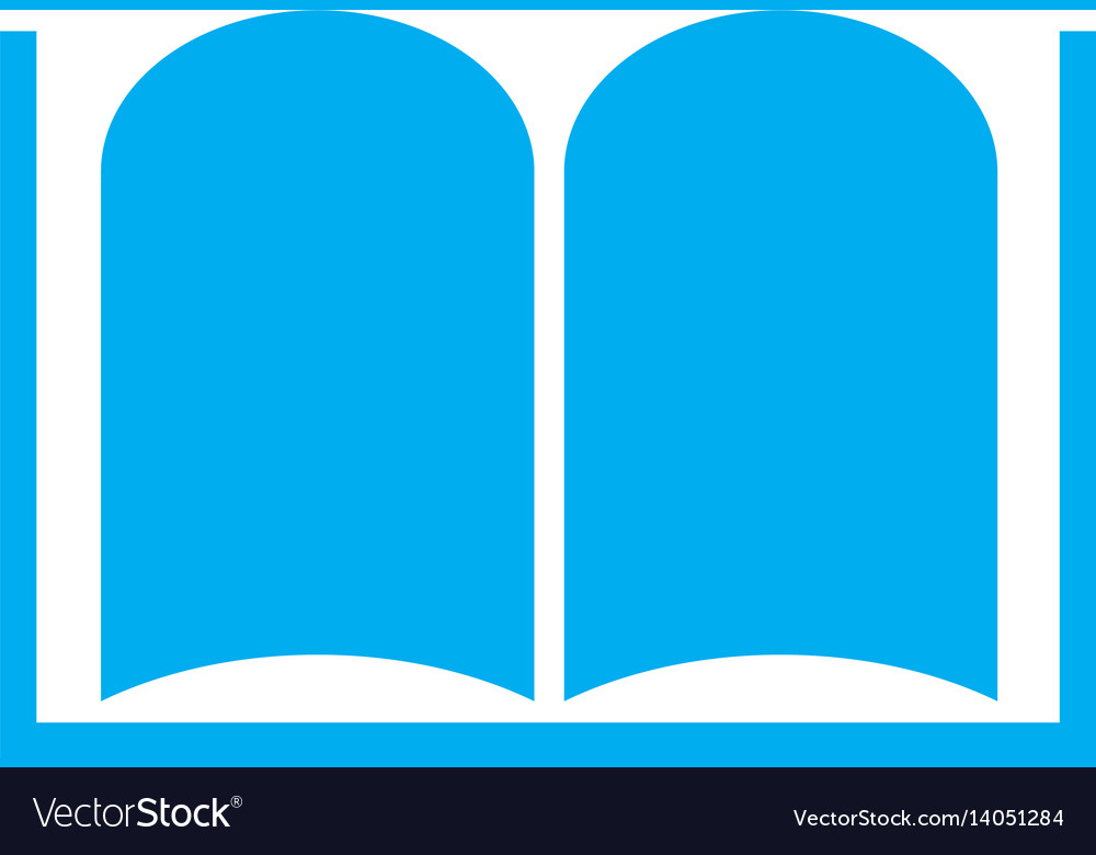 Book icon on white background book symbol vector image