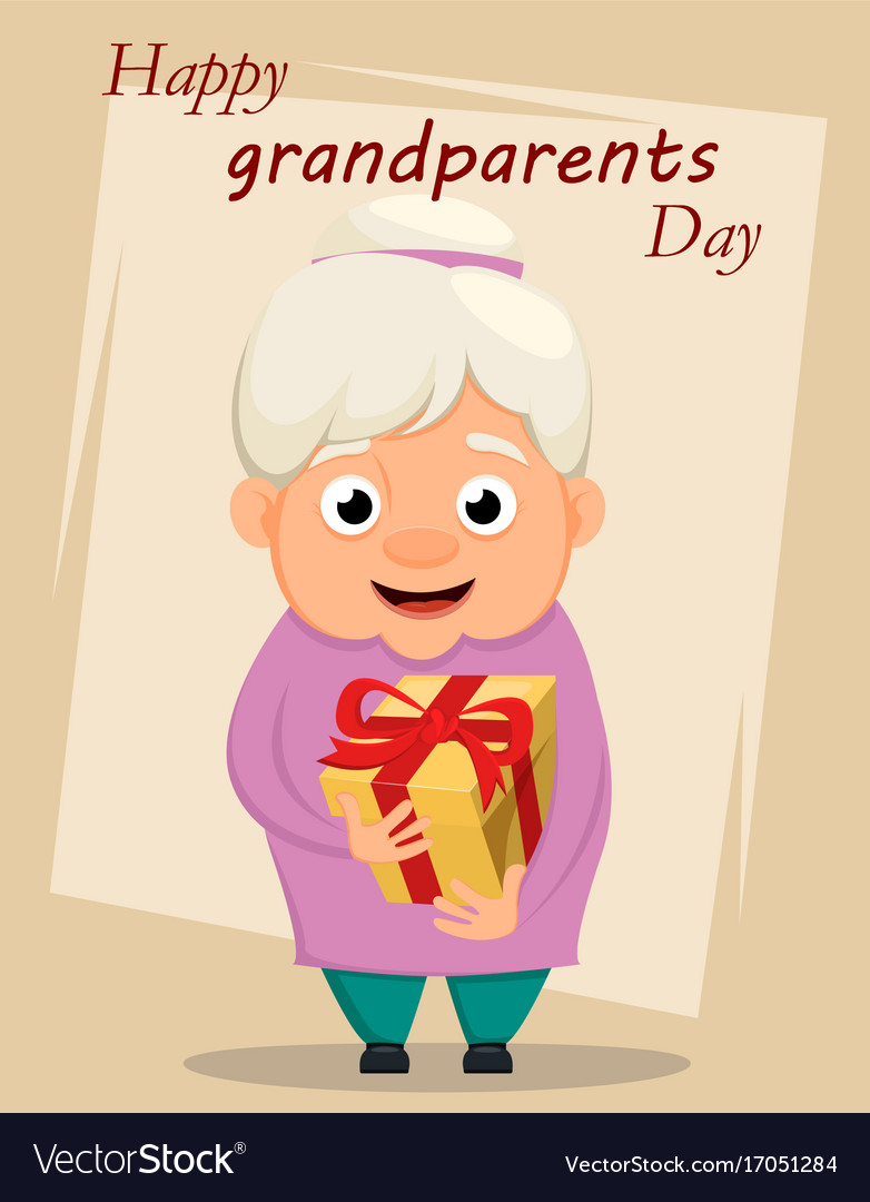 Grandparents day greeting card grandmother vector image kristyandbryce Gallery