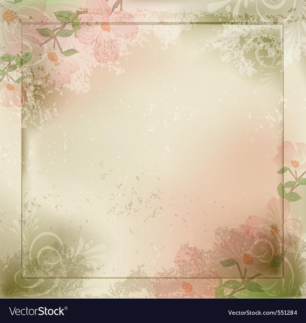 Grunge vintage vector image