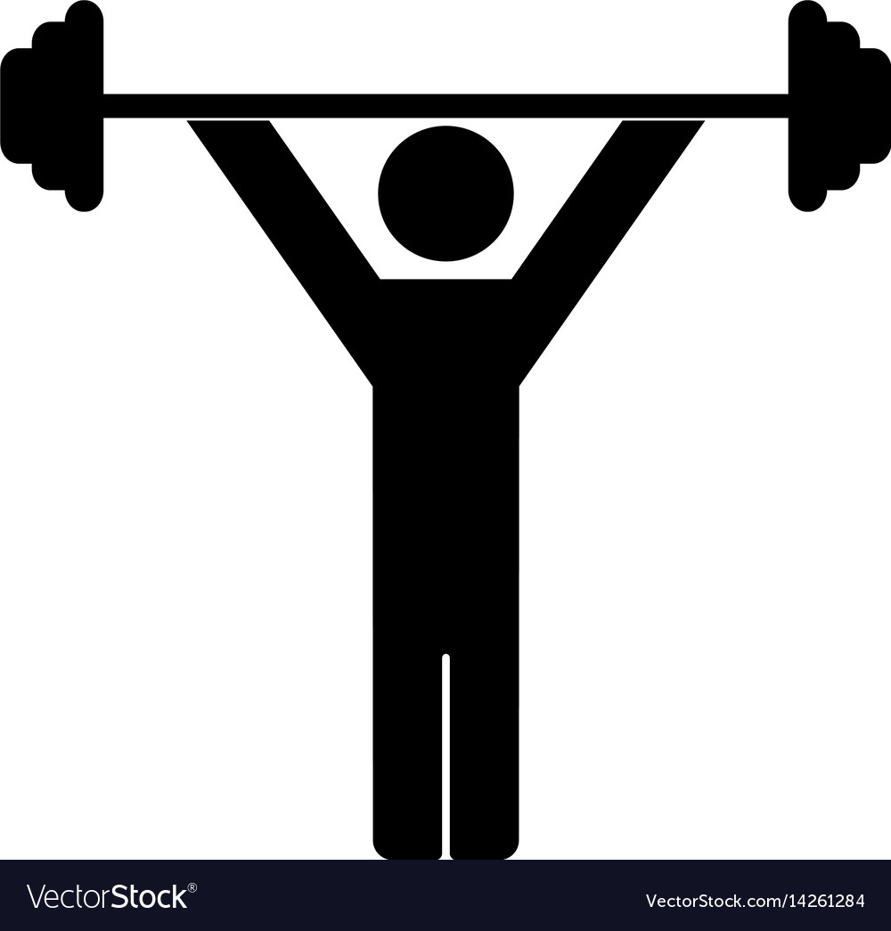 Weightlifting icon on white vector image