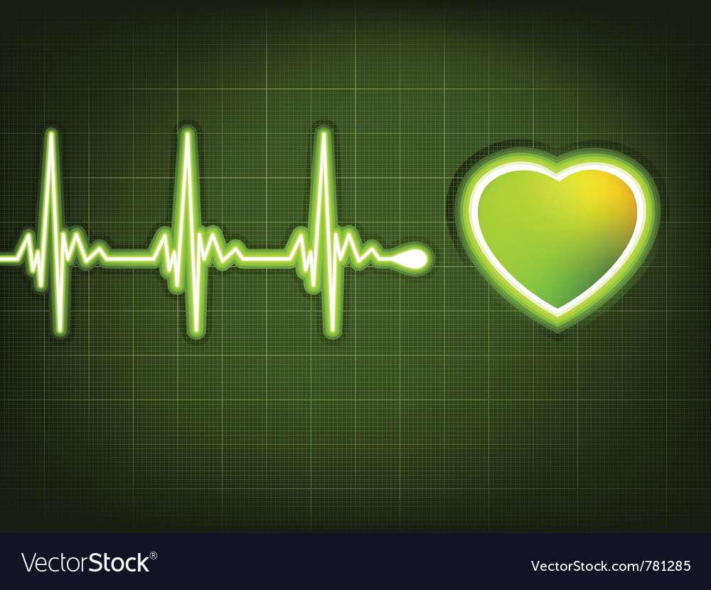 Abstract heart beats vector image
