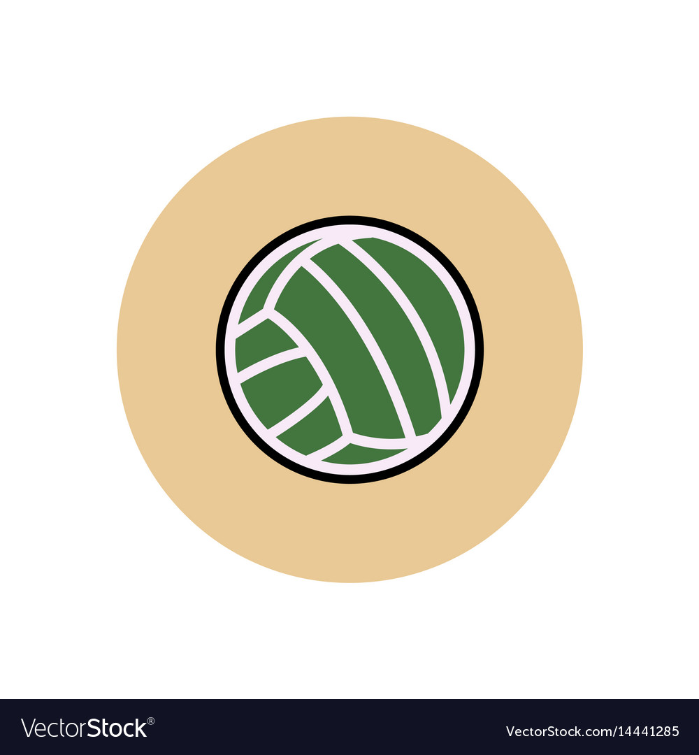 flat color volleyball ball
