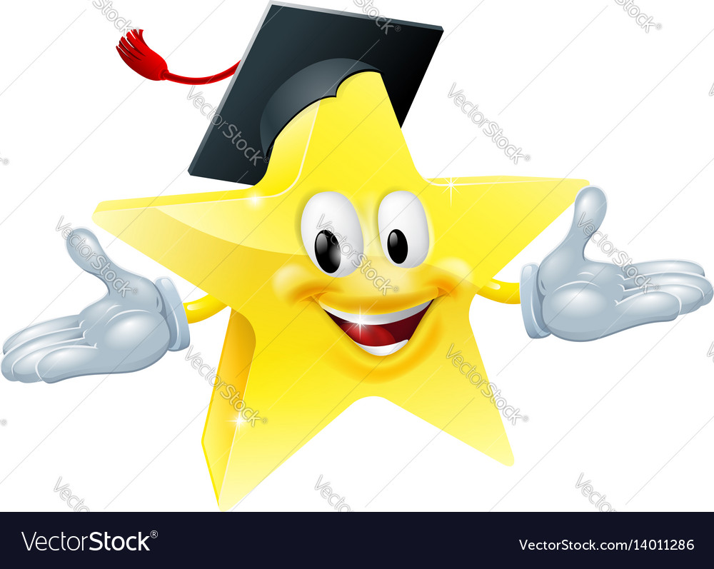 Education star man vector image
