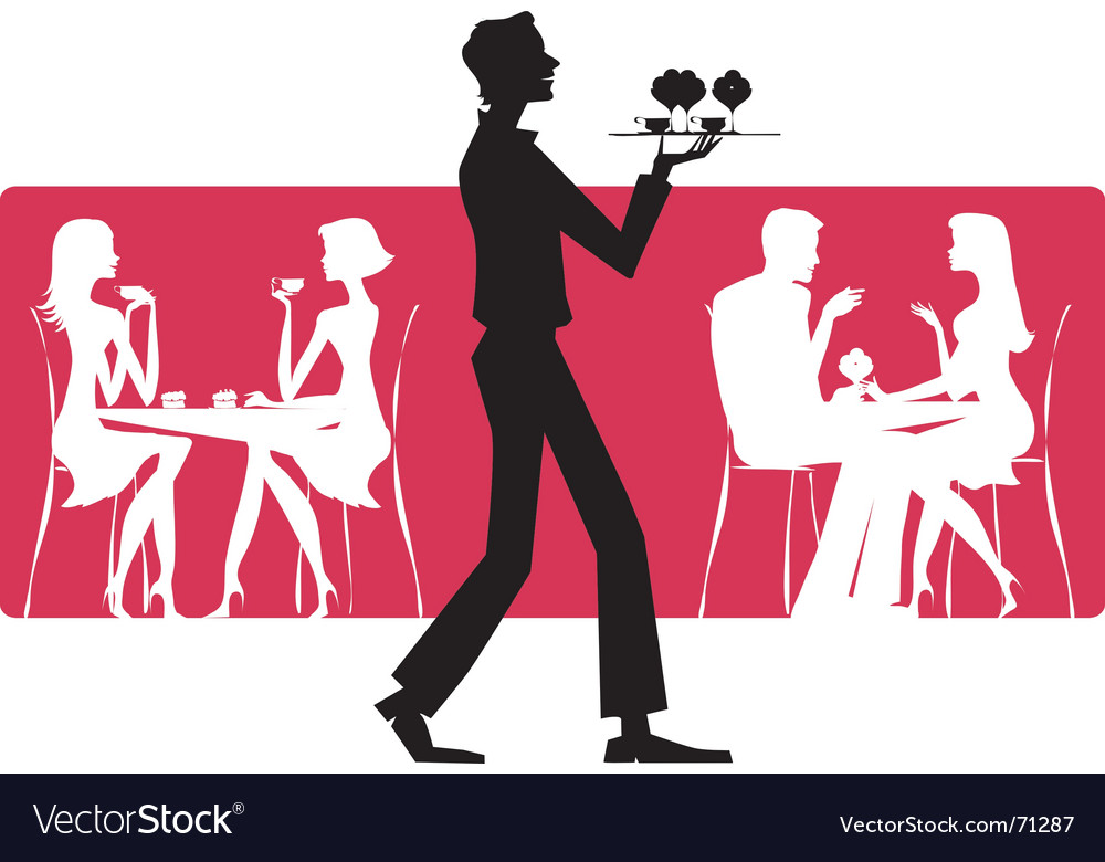 Cafe scene vector image