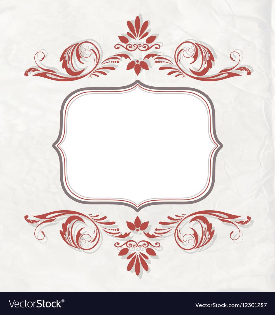 Elegant vintage invitation card or banner vector image elegant vintage invitation card or banner vector image stopboris Image collections