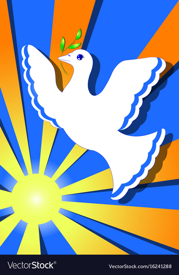 Dove of peace in the sun vector image