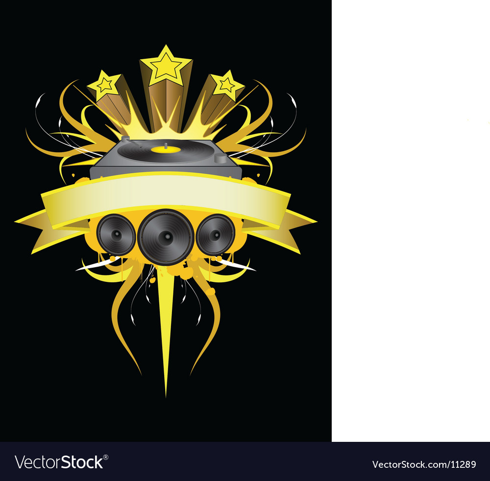 Djgold vector image