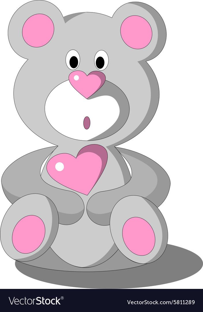 Bear color 24 vector image