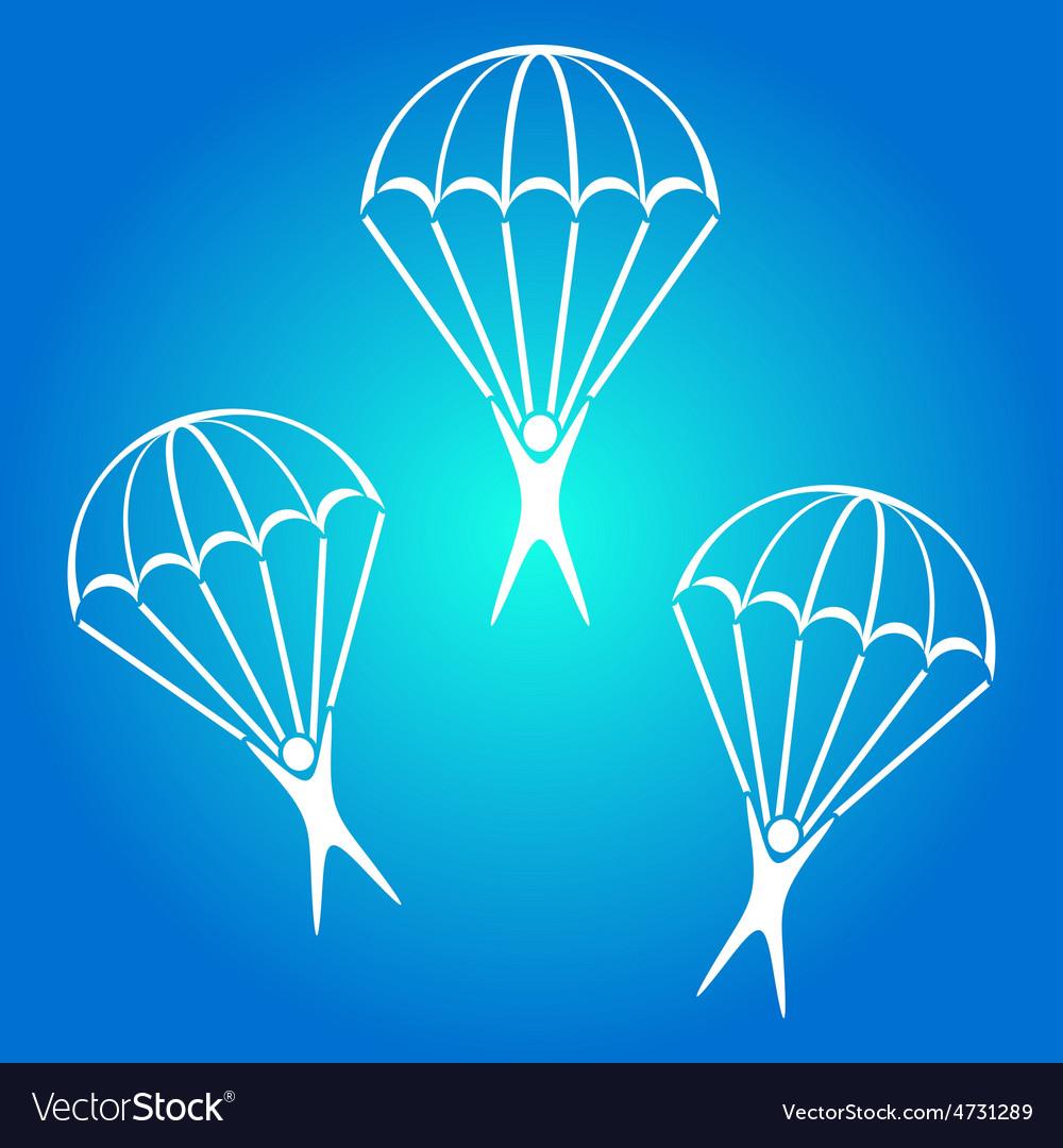 Parachute jumper icon vector image