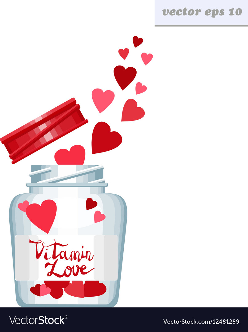 Vitamin love can vector image