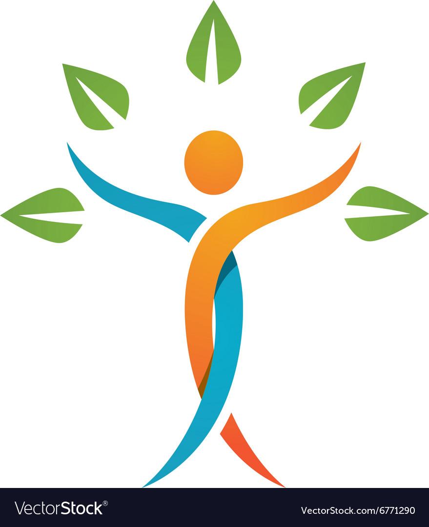 healthy life logo royalty free vector image vectorstock