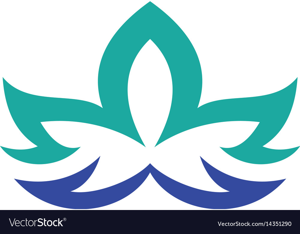 Lotus flower abstract logo design template vector image lotus flower abstract logo design template vector image pronofoot35fo Choice Image