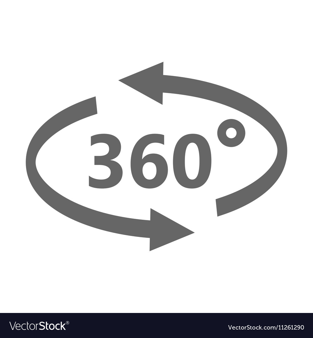 Simple icon 360 degrees 360 Degrees View vector image