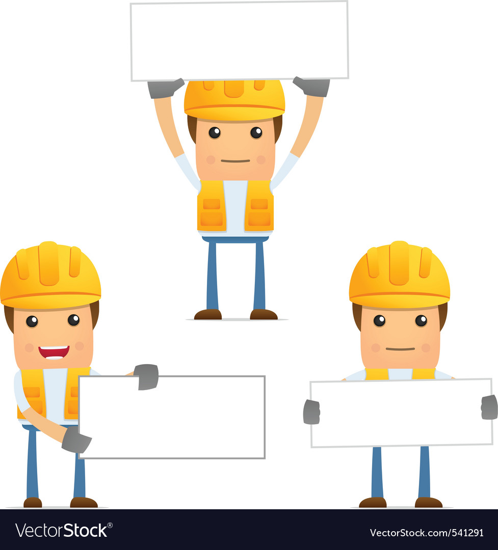 cartoon construction worker royalty free vector image