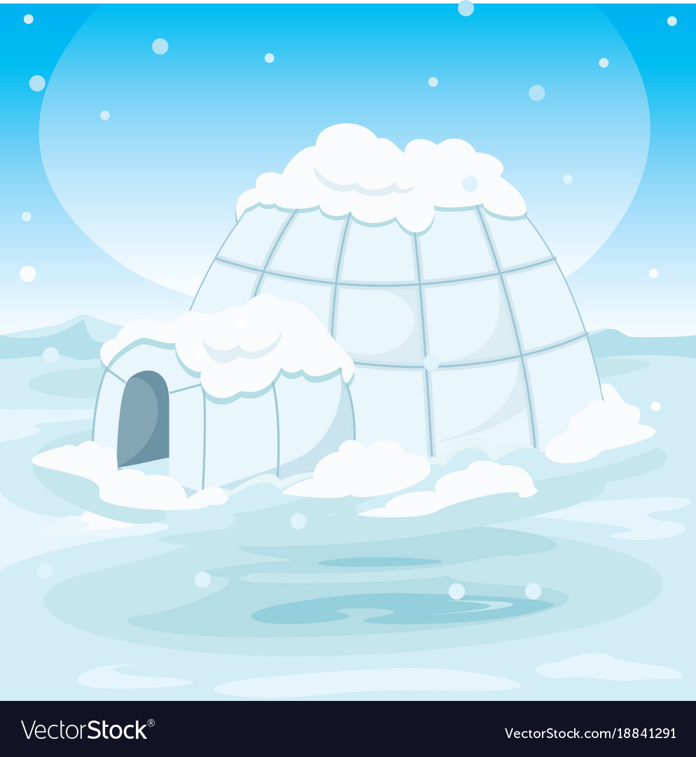 Igloo house vector image