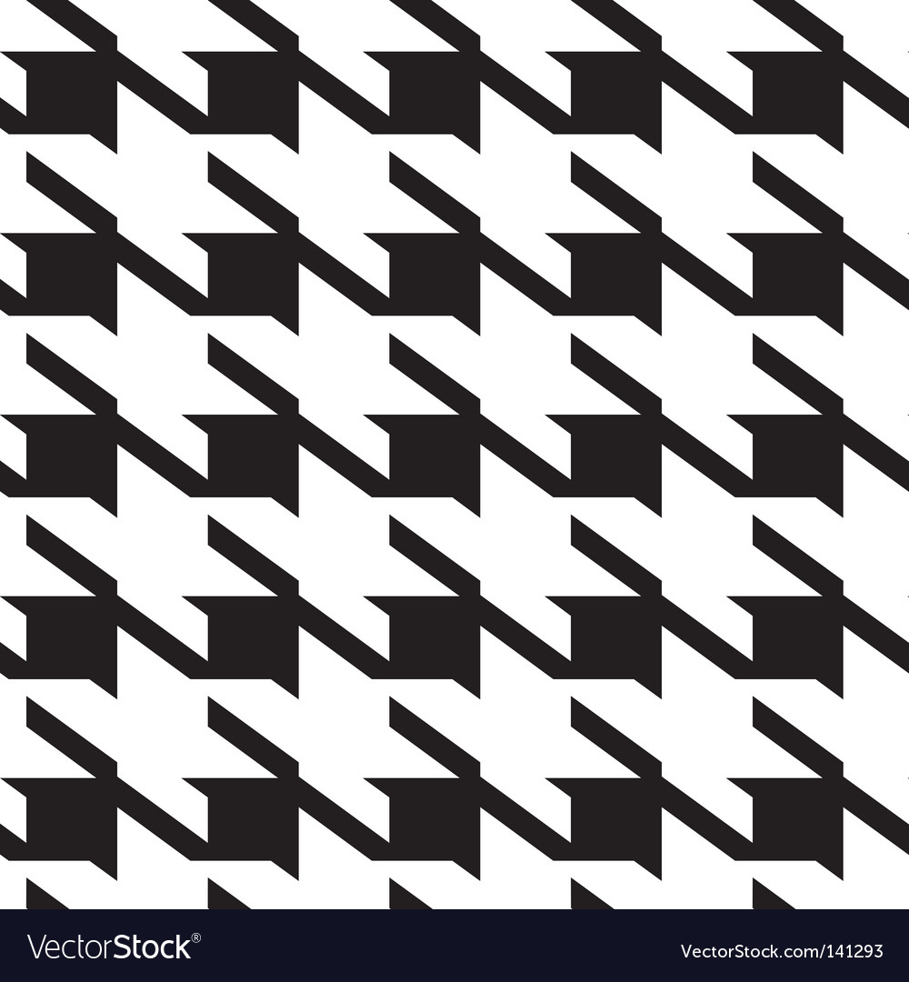 Hounds tooth background vector image