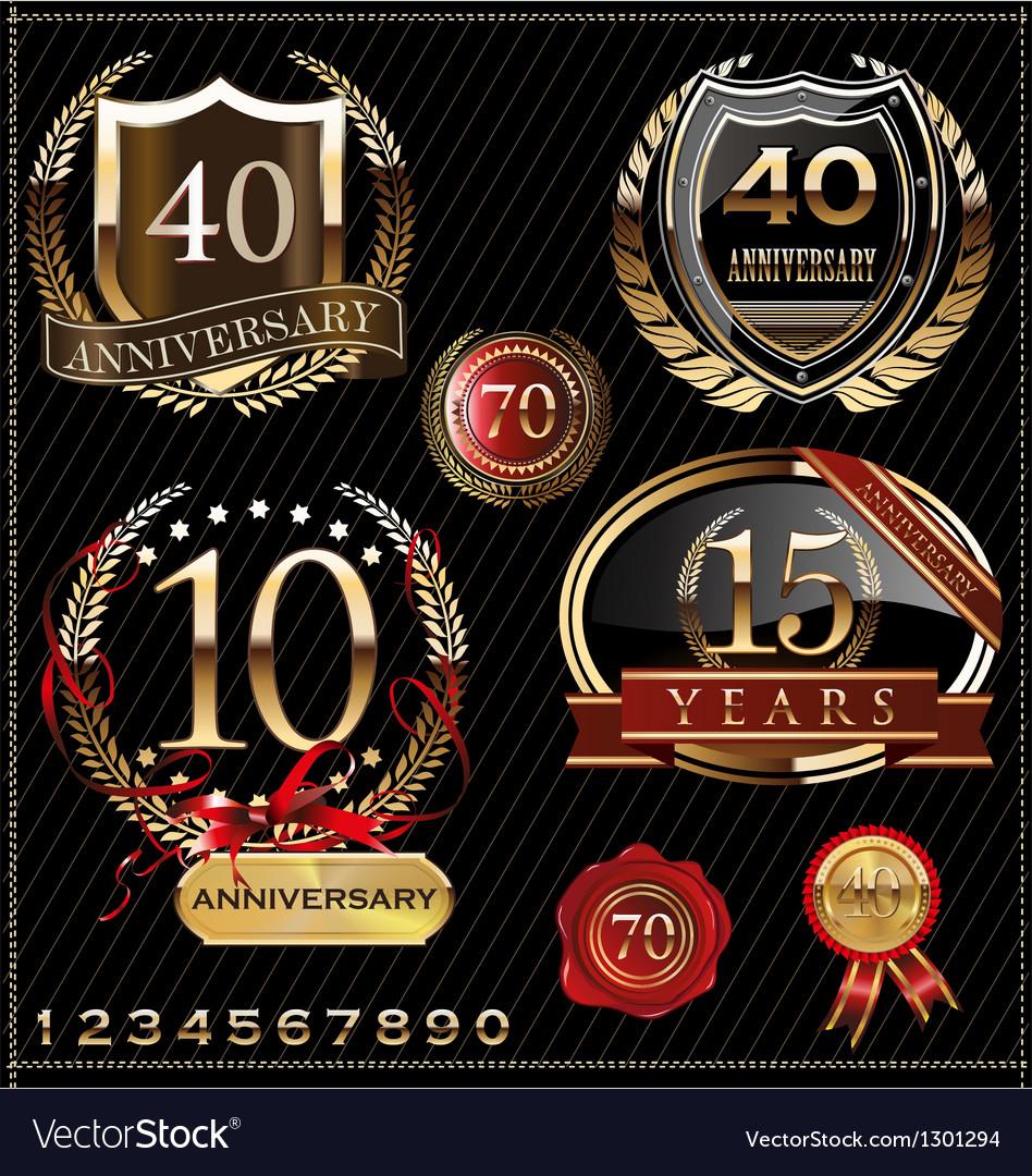 Anniversary design vector image