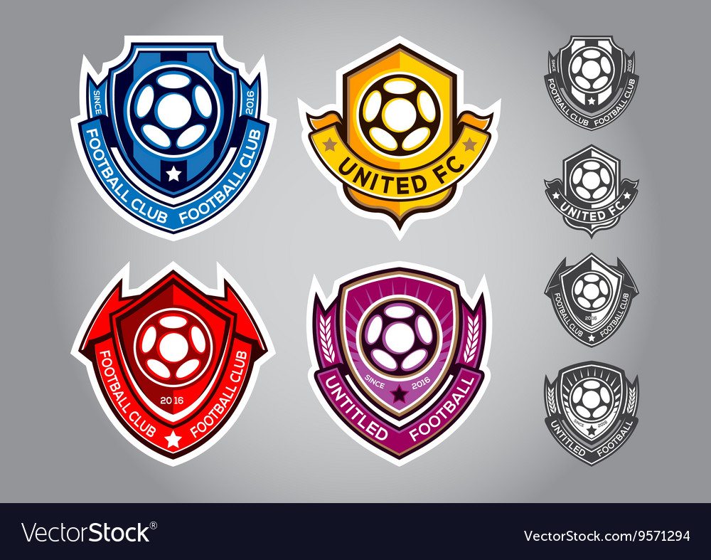 Emblem logo football vector image