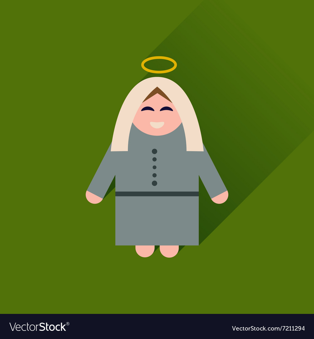 Flat icon with long shadow Mother Jesus Christ
