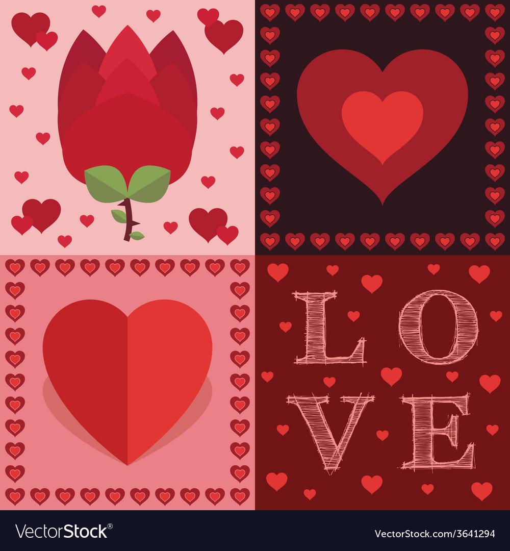 Valentine decorations vector image