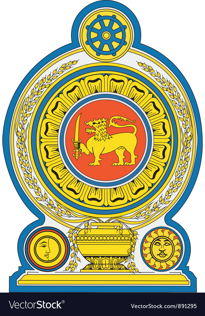Democratic Socialist Republic of Sri Lanka Emblem vector image