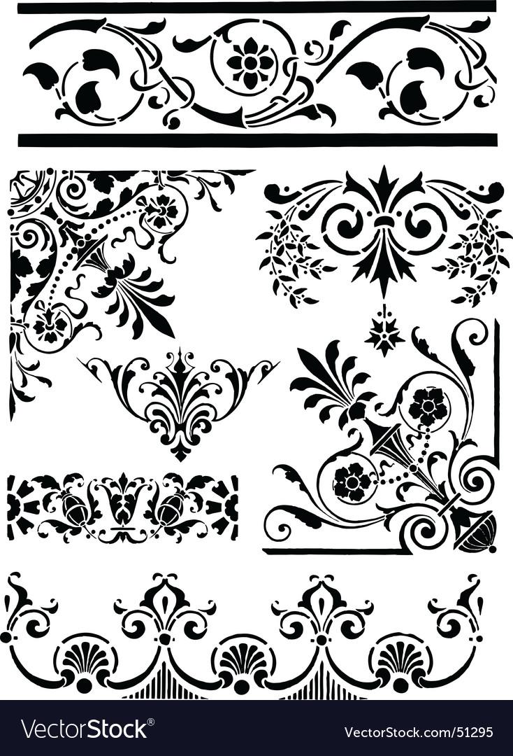Vintage grunge design motifs vector image