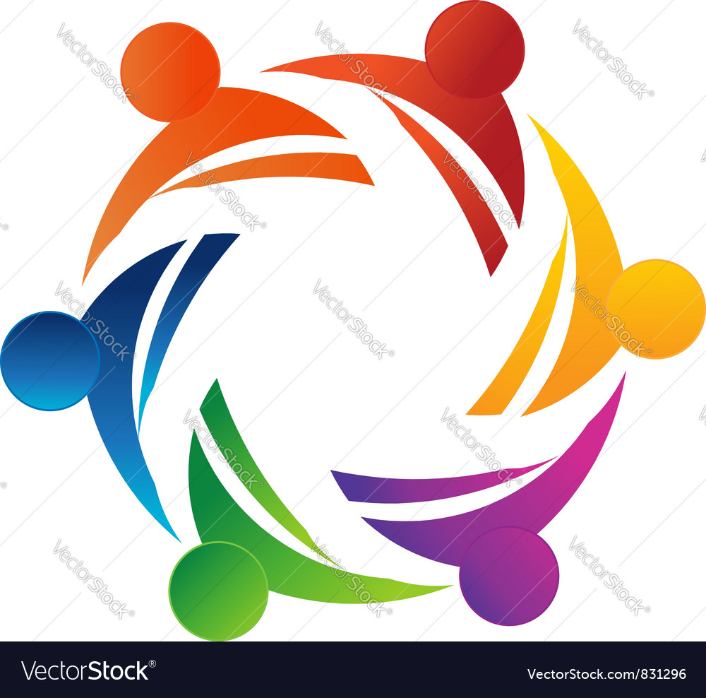 Teamwork 6 vector image
