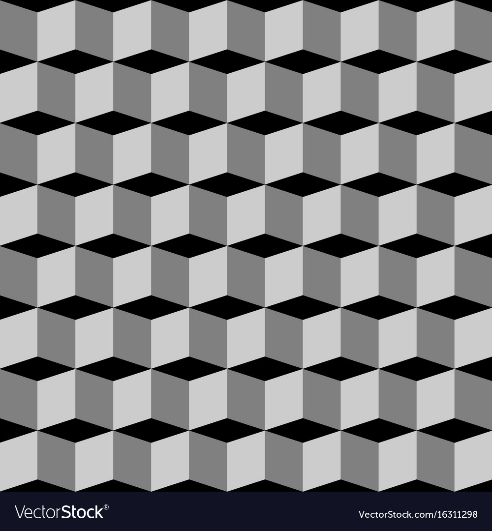 Abstract geometric background cubes vector image