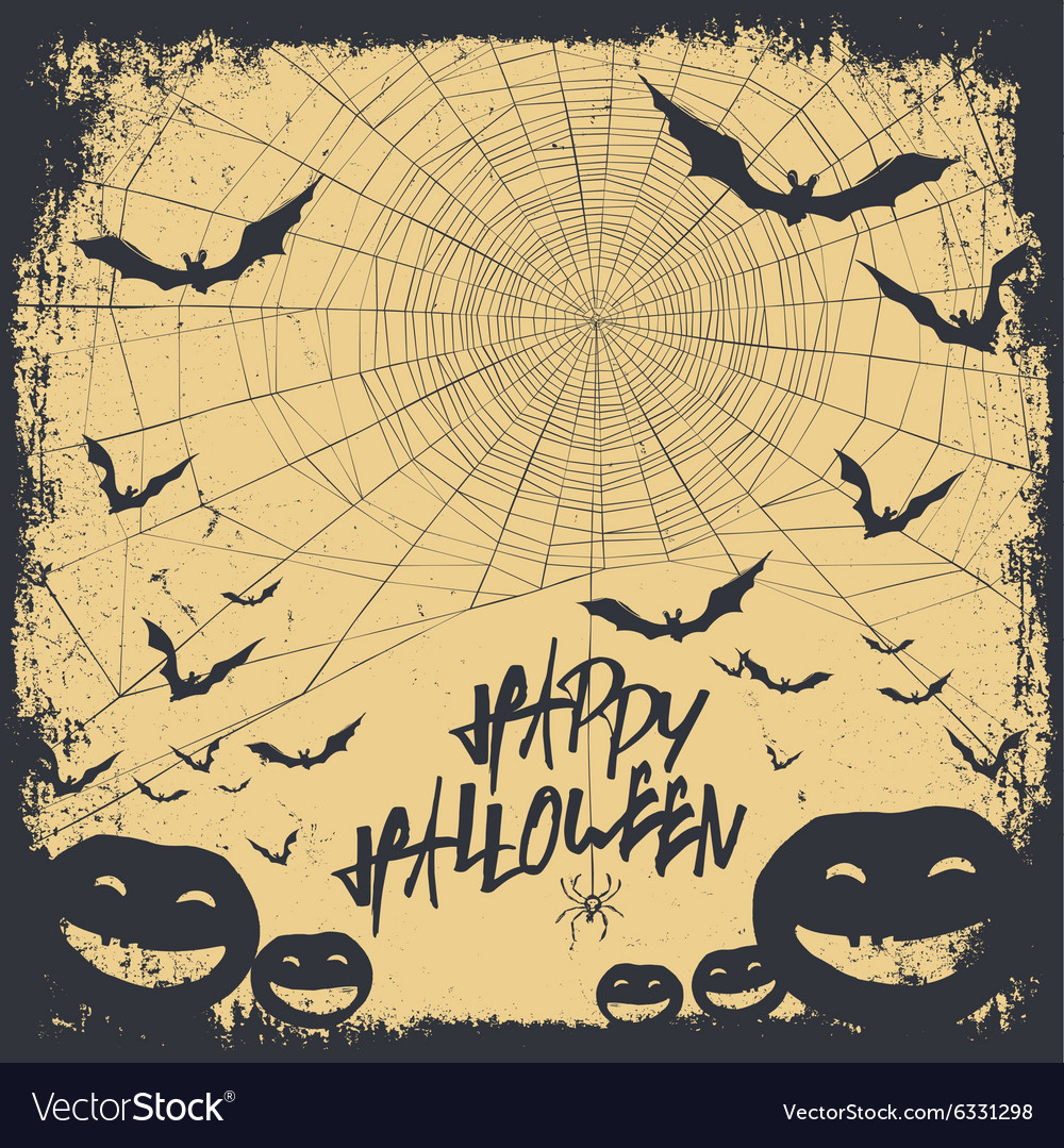 Halloween background silhouettes vector image