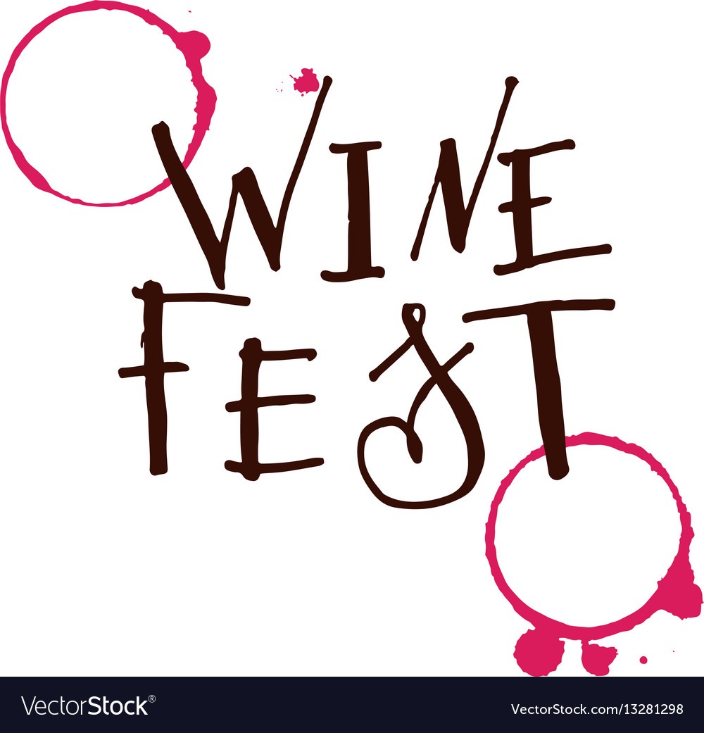 Lettering for wine fest royalty free vector image lettering for wine fest vector image biocorpaavc Gallery