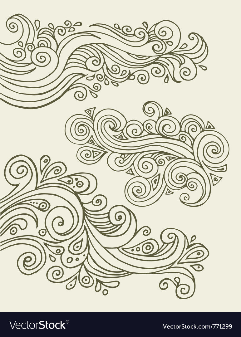 Doodles design elements vector image