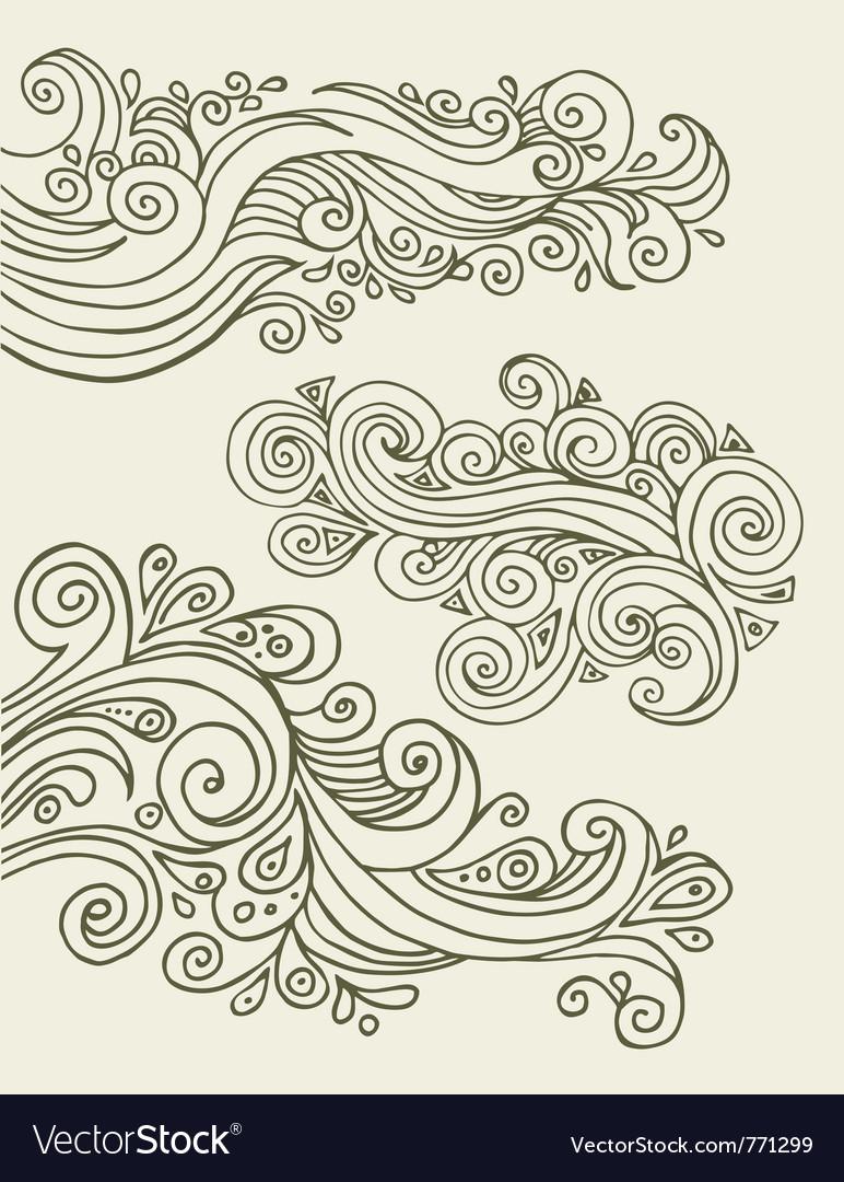 Doodles design elements vector image