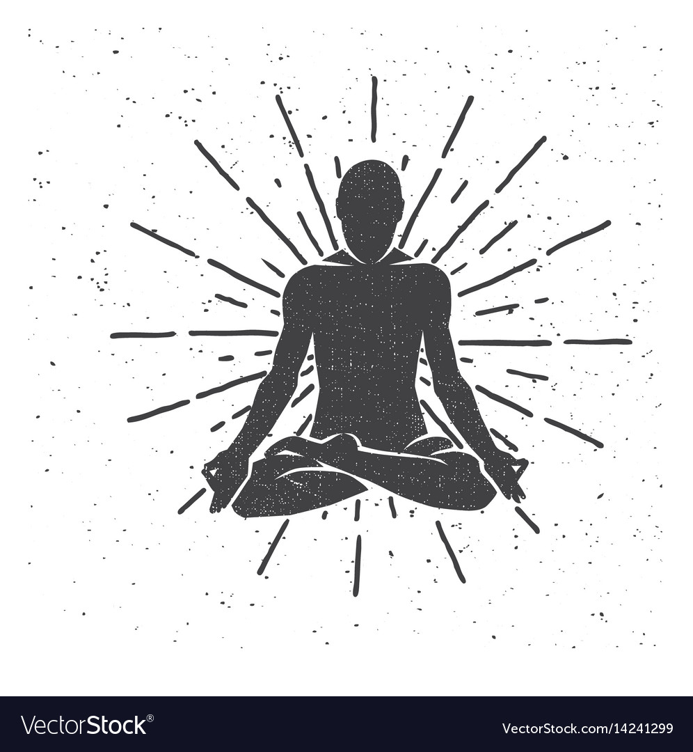 Meditation in the lotus position yoga vector image