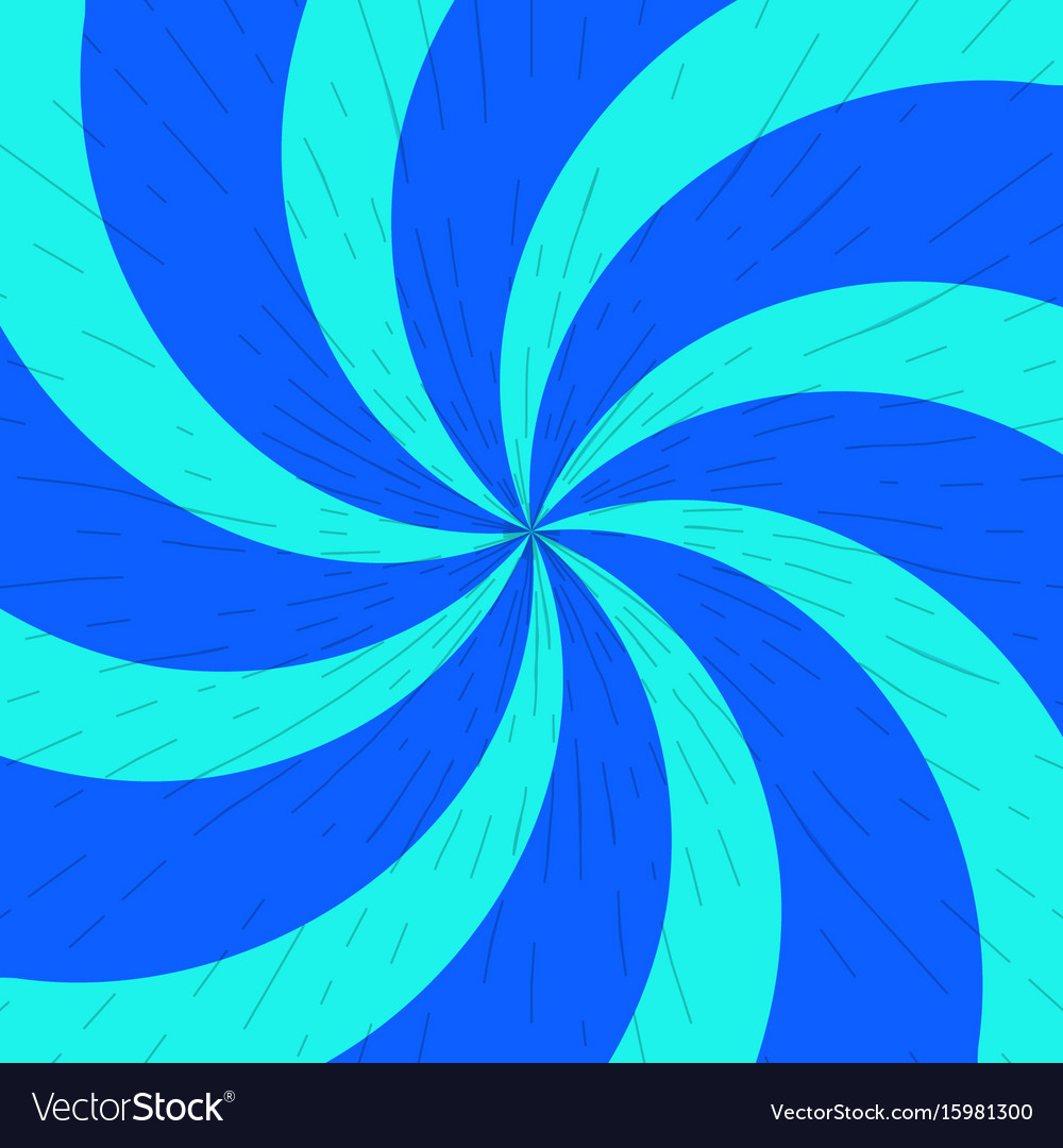 Blue and light-blue twirl background with scratch vector image