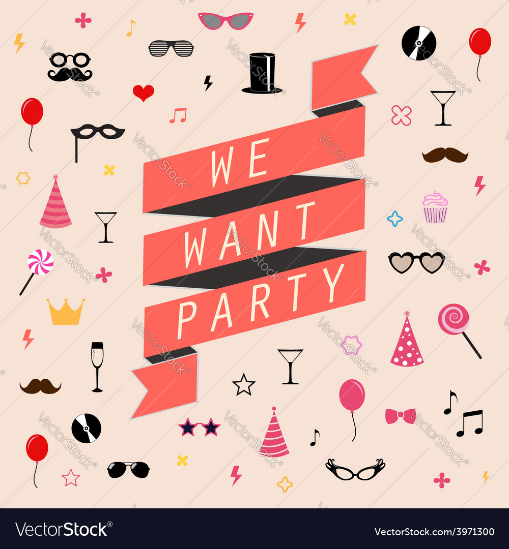 Party background templates vector image
