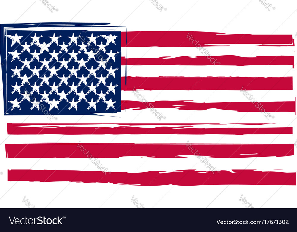 Grunge United States Flag Or Banner Royalty Free Vector - Free united states vector