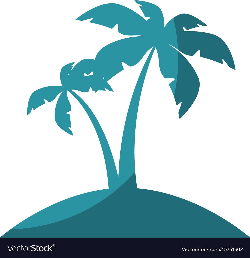 Island tree palms vector image