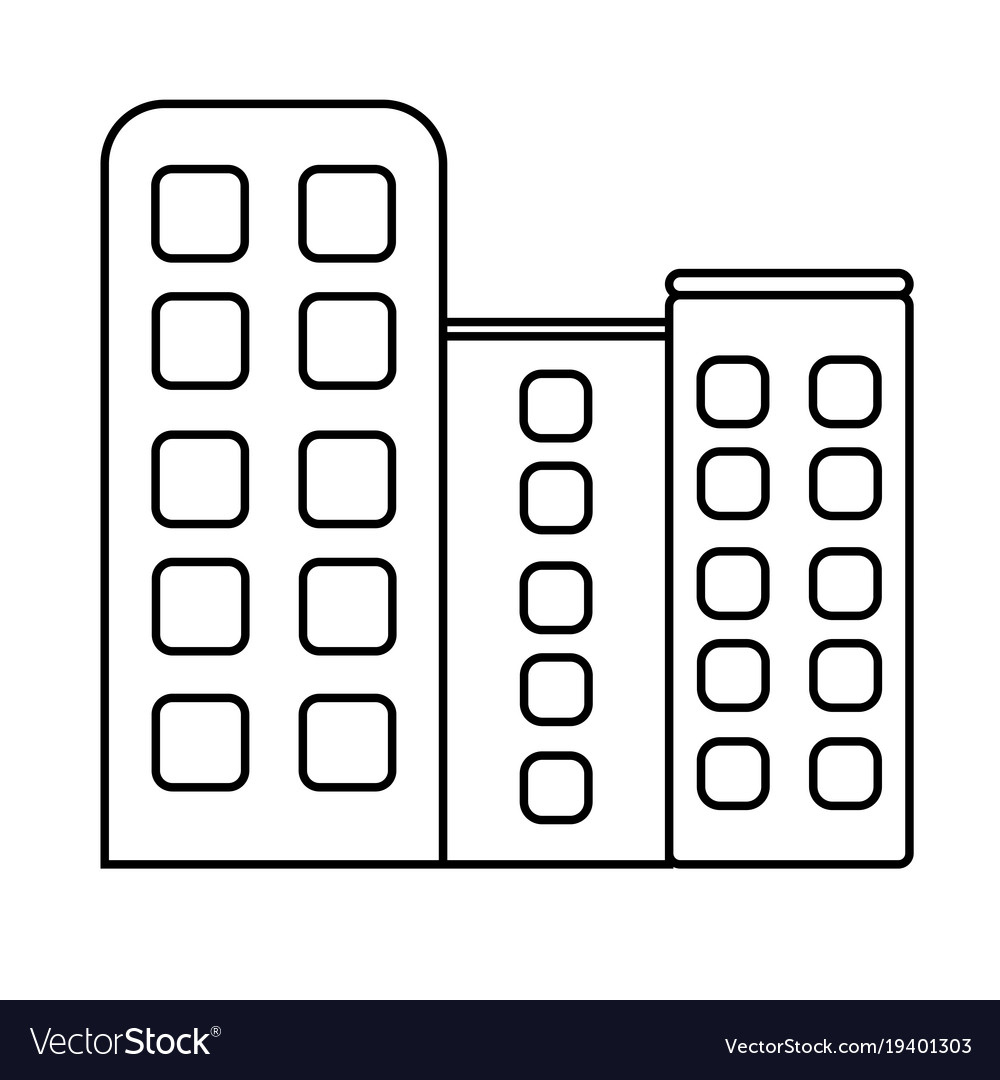 Building business finance office icon vector image