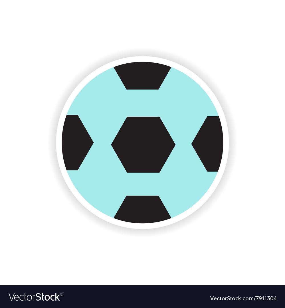 Paper sticker Brazilian football on white