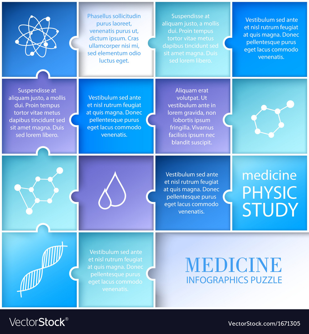 Flat medicine infographic design Vector Image