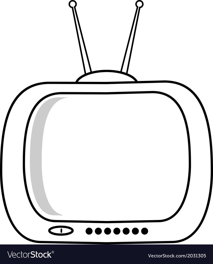 Retro TV isolated on white background vector image