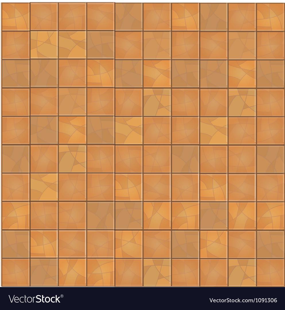 Brown floor tiles seamless background vector image
