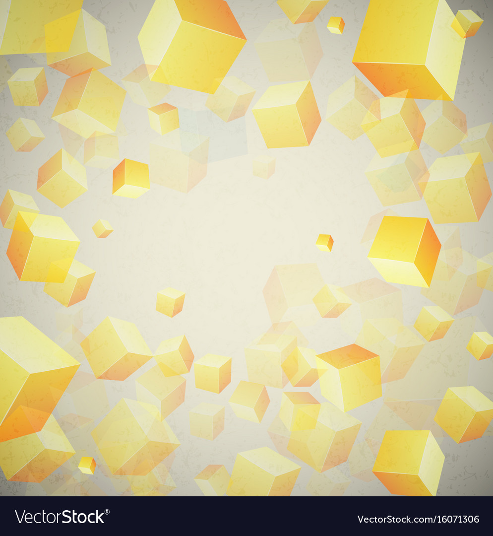 Abstract cubes set background vector image