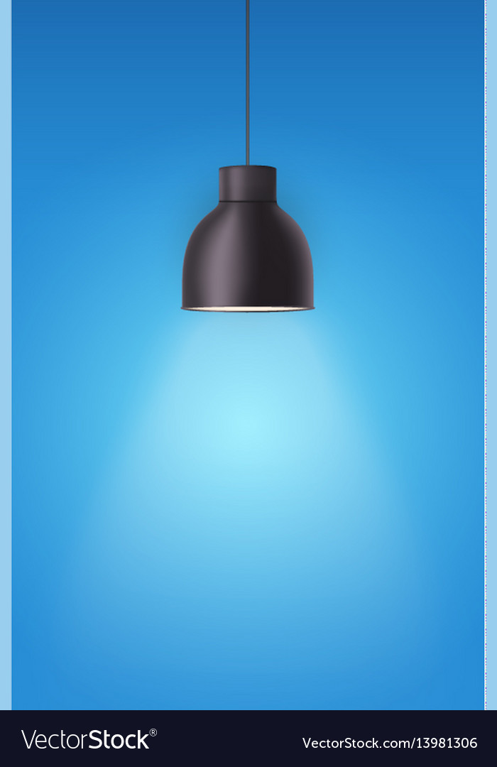 Retro metal stylish ceiling cone lamp vector image