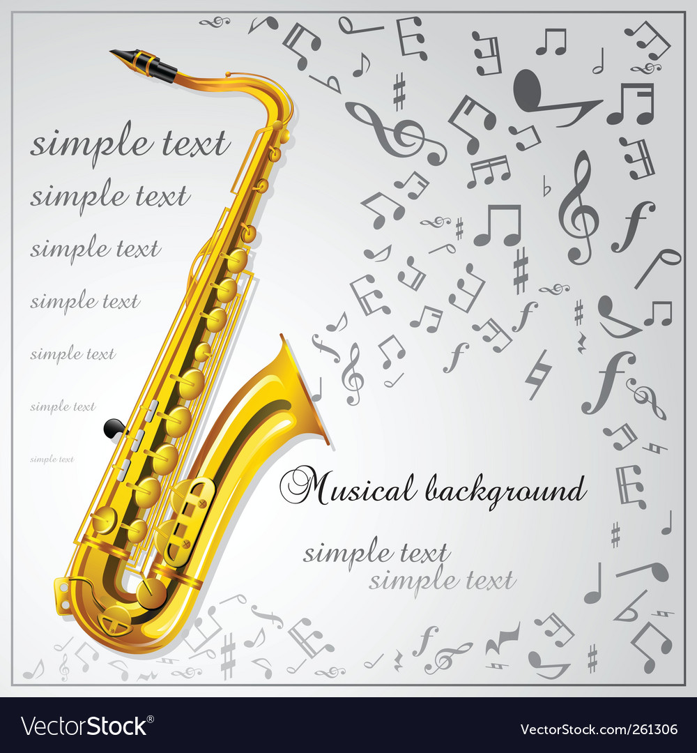 Saxophone music background vector image